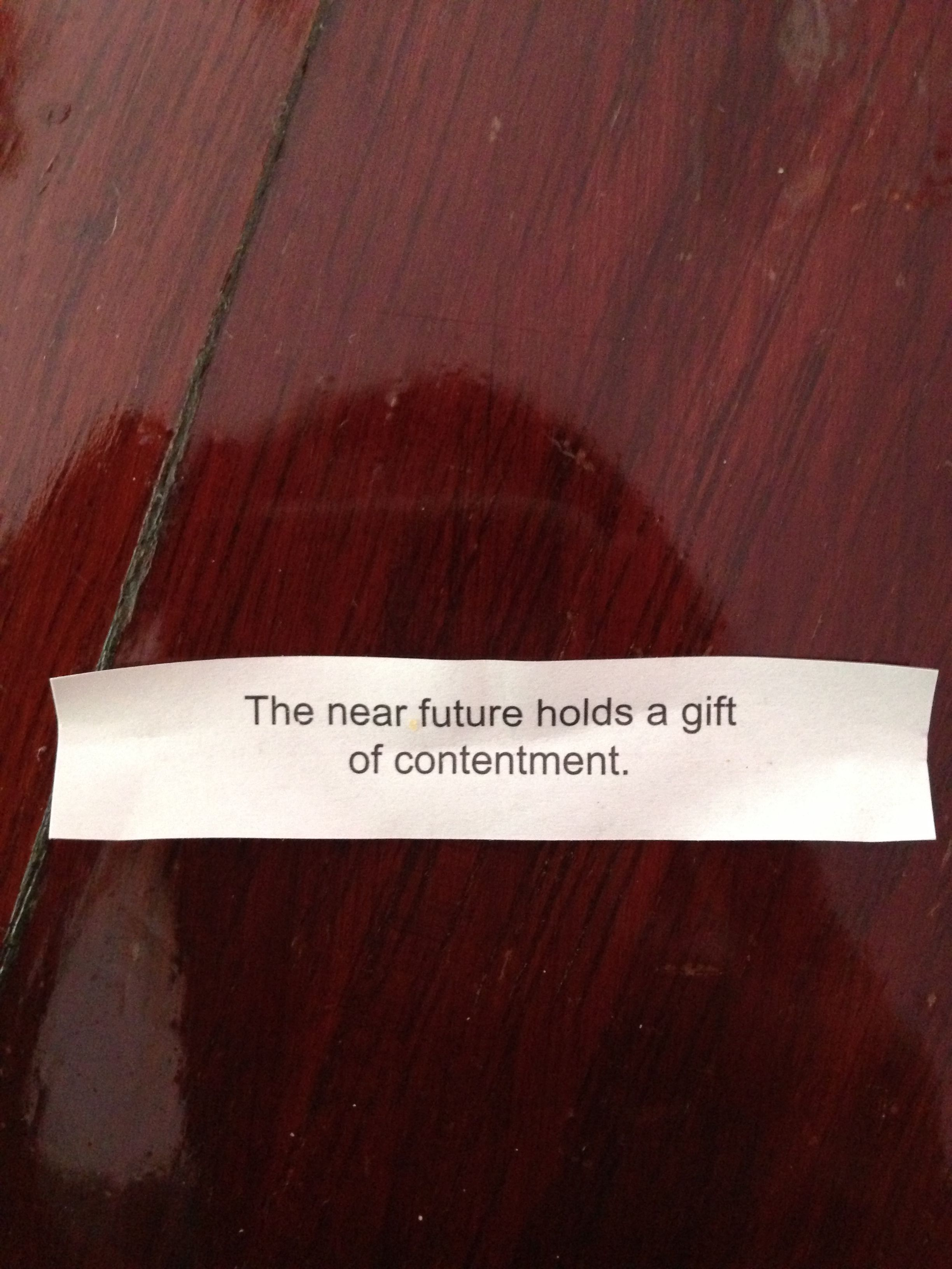 Best fortune EVER!