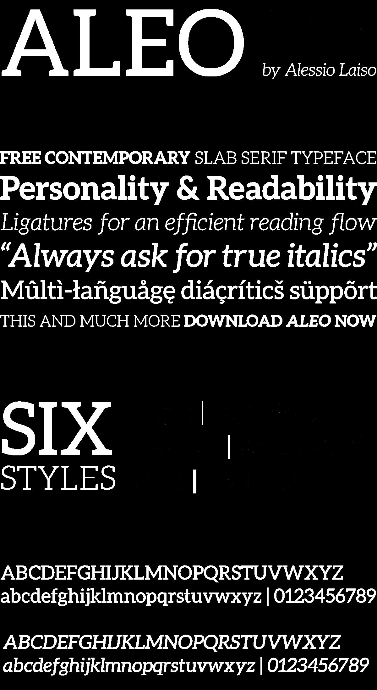 Aleo Free Font Family On Behance Free Font Fonts Graphic Design Fonts
