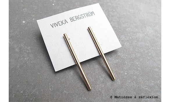 Viveka Bergstrom boucles tube doré #vivekabergstrom #earrings