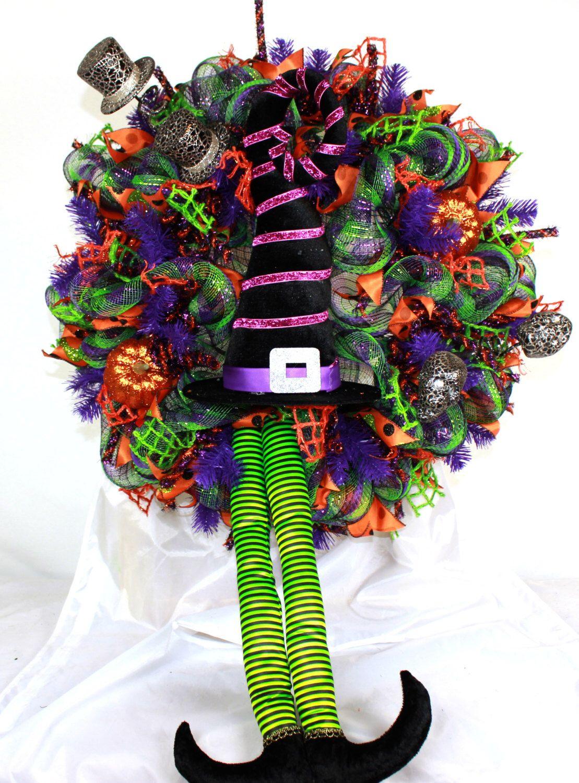 XL Happy Halloween Deco Mesh Door Wreath Hanger by Crazyboutdeco on Etsy https://www.etsy.com/listing/467654669/xl-happy-halloween-deco-mesh-door-wreath