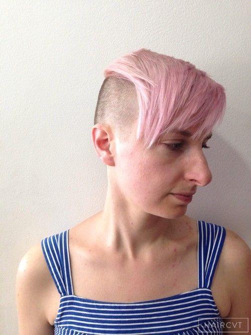 Women Undercut Asymmetric Side Parting Hairstyle Undercut - Undercut hairstyle london