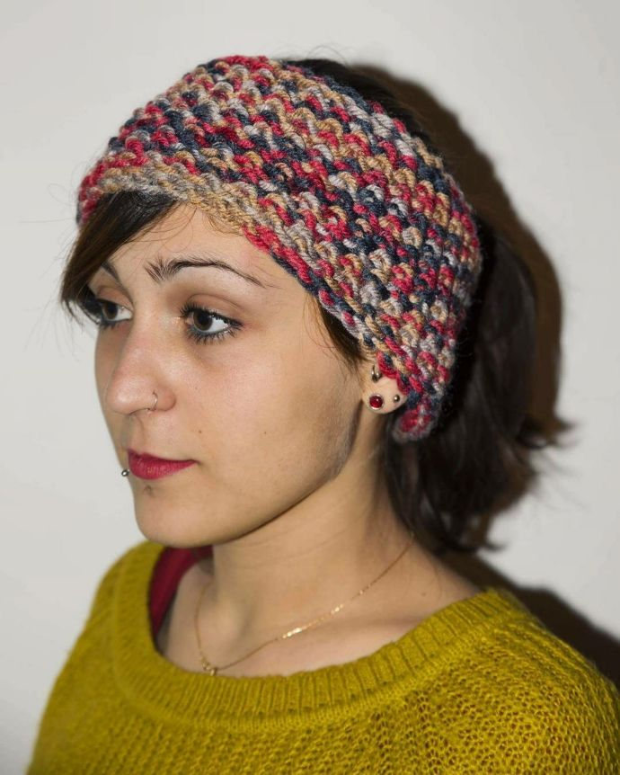Loom knitted seed stitch headband by @gliintreccidiza | Subscribers ...