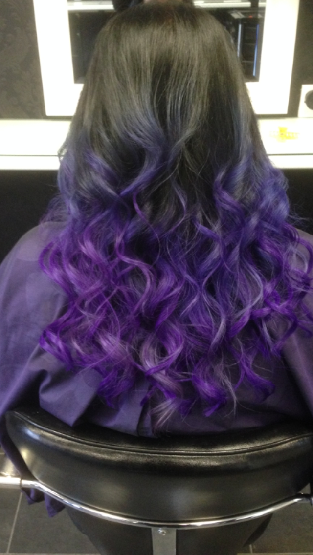 Purple Ombr With Great Lengths Uk Hair Extensions By Janthea Lynch
