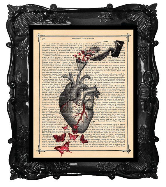 Upcycled Dictionary Page by BlackBaroque on etsy | In this heart ...