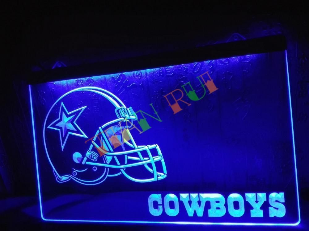 Led Sign Home Decor Entrancing Dallas Cowboys Helmet Nr Bar Led Neon Light Sign Home Decor Shop Inspiration Design