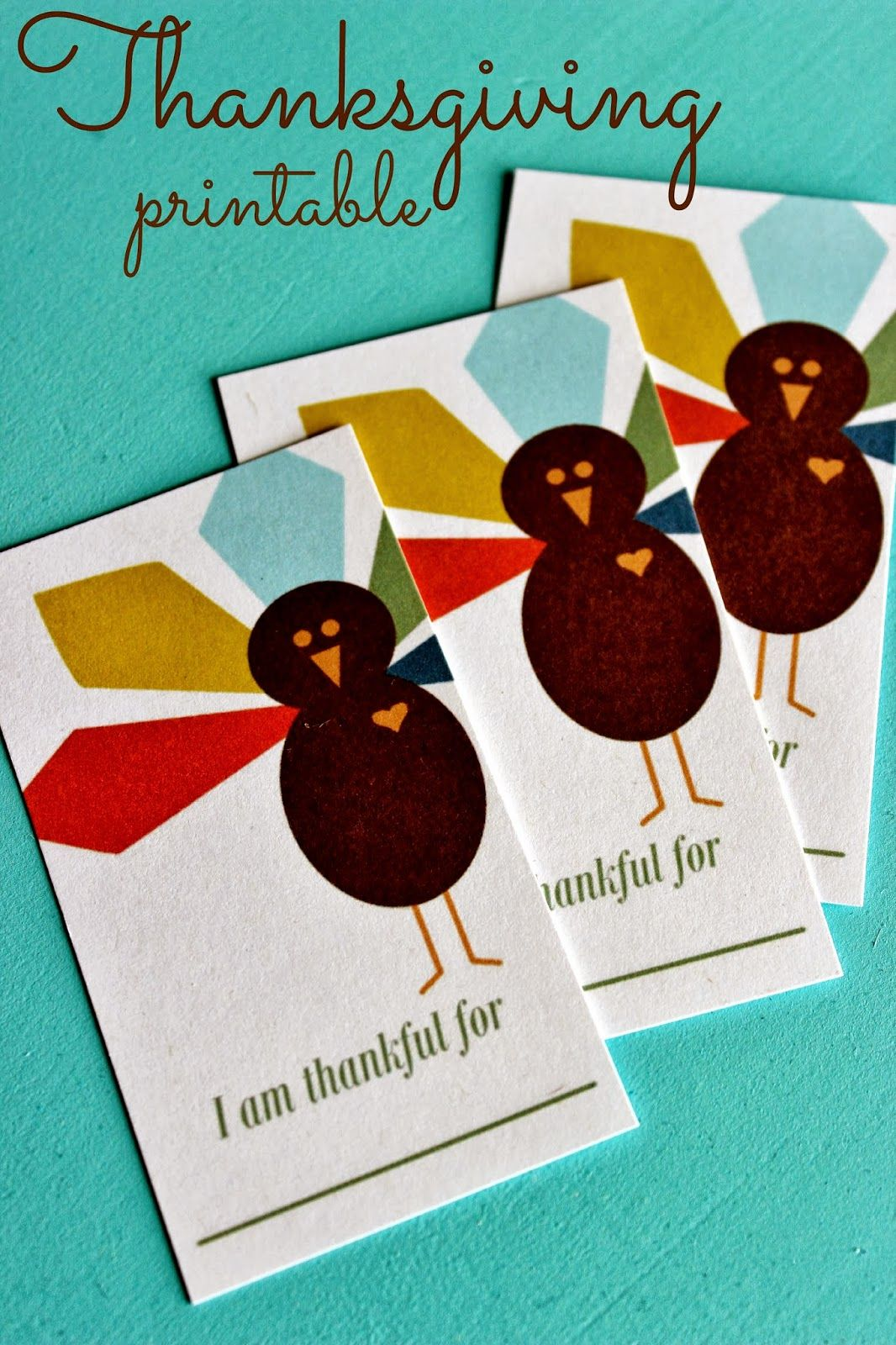 Free printable I am Thankful For Cards
