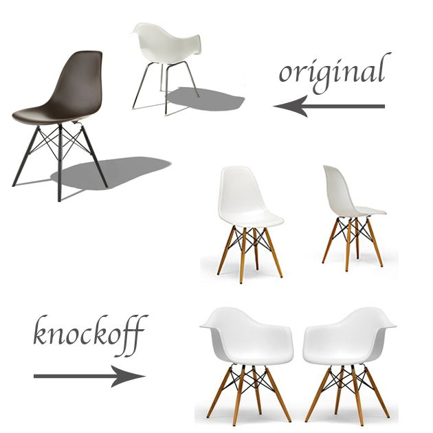 Original Vs Knockoff Eames Molded Plastic Chairs Life In Sketch