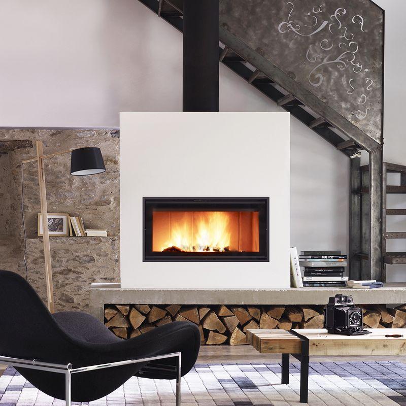 id e deco poele a bois l 39 actu bois energie pinterest idee deco bois et chauffage. Black Bedroom Furniture Sets. Home Design Ideas