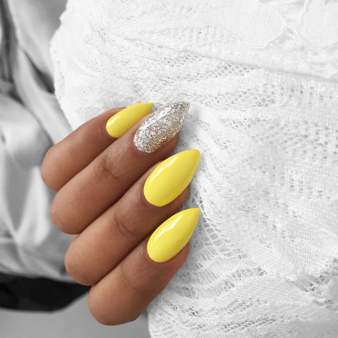 "Photo of E.T💋 on Instagram: ""Gina I'm loving my nails girl!! 💛💛💛💛@geebeautyau  #nails #yellowfever"""
