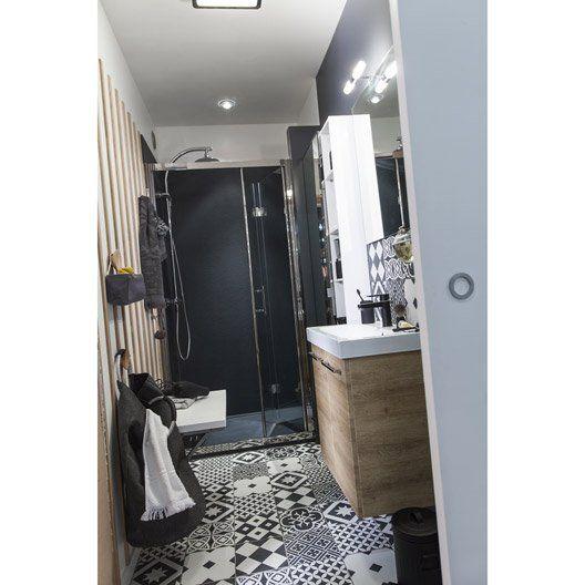 Carrelage sol et mur noir  19,95e m 2 blanc effet ciment Gatsby l