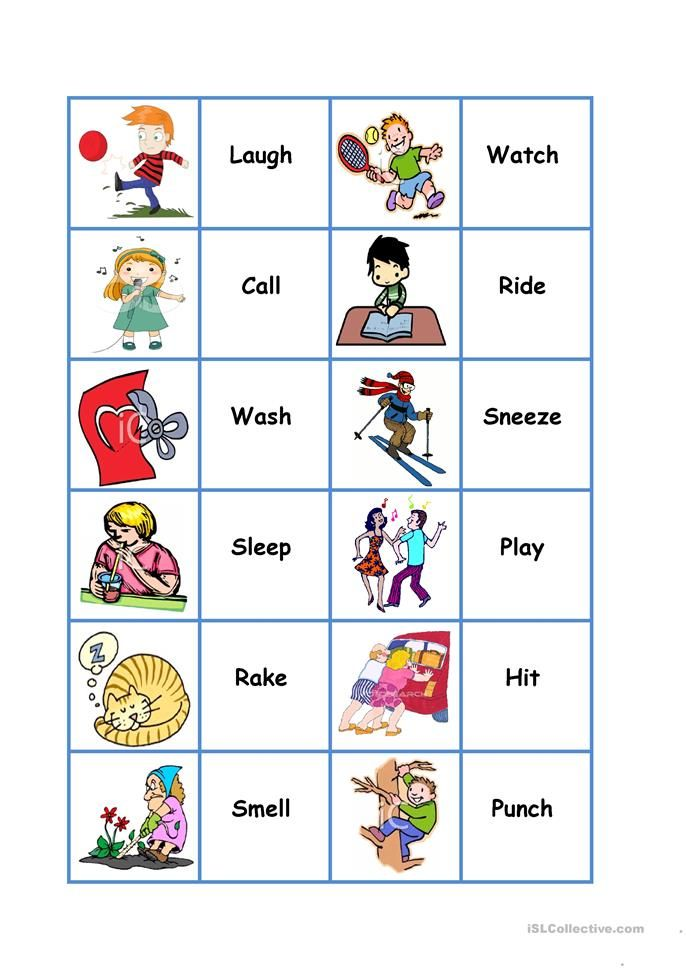 Action Dominoes tutor Pinterest Action verbs, Verbs list and - active verbs list
