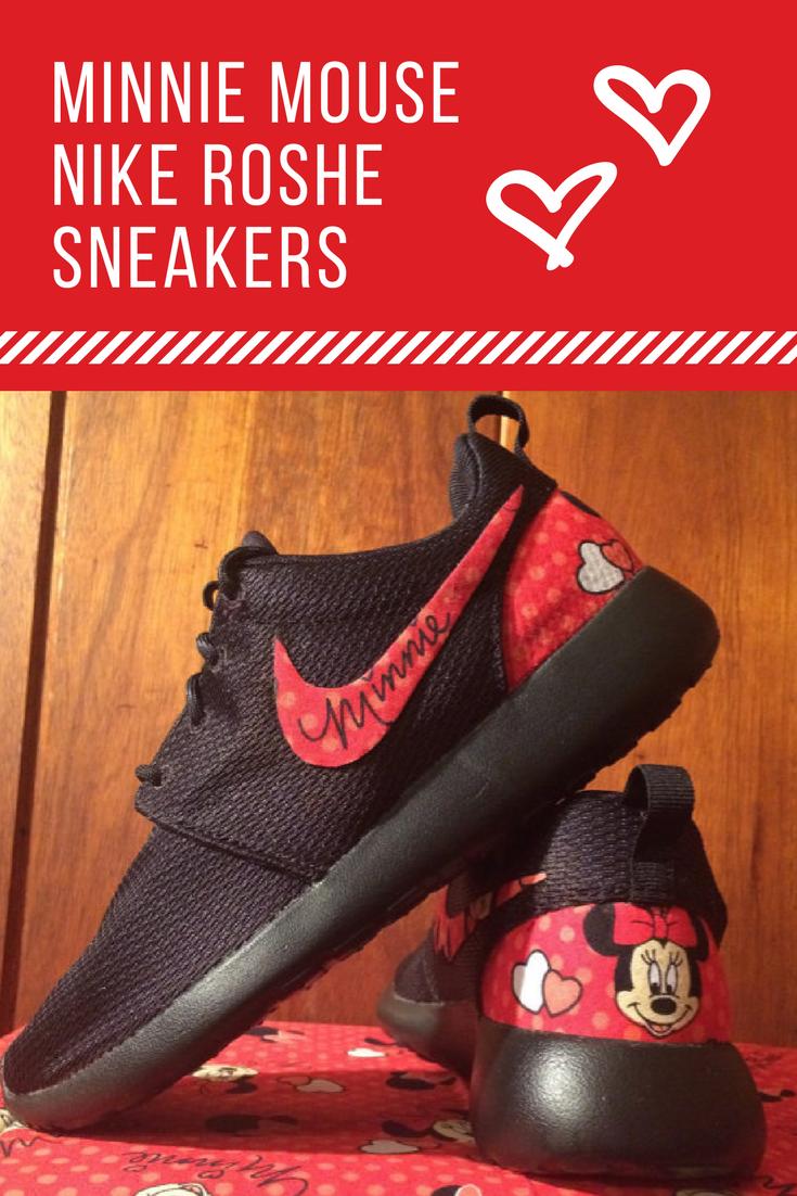 f8b92601d7282 RED Minnie Mouse Custom Nike Roshe