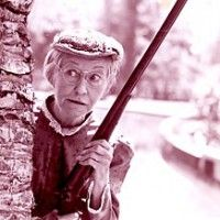 Groovy Grandma Loves Guns I Love This Granny Clampett At Her Best Interior Design Ideas Philsoteloinfo