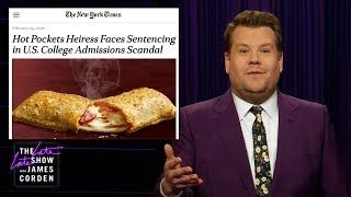 James Corden takes a look at the news of the day, including the latest Democratic president debate, the legal jeopardy currently faced by the Hot Pockets heiress, and a study linking fast food consumption to low sperm count.  More Late Late Show: Subscribe:...    #TheLateLateShow #LateLateShow #JamesCorden #Corden #latenight #latenightshow #comedy #comedian #celebrity #celeb #celebrities #CBS #joke #jokes #funny #funnyvideos #funnyvideo #humor #hollywood #famous