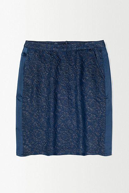 Custommade Cobalt Floral Skirt #anthropologie