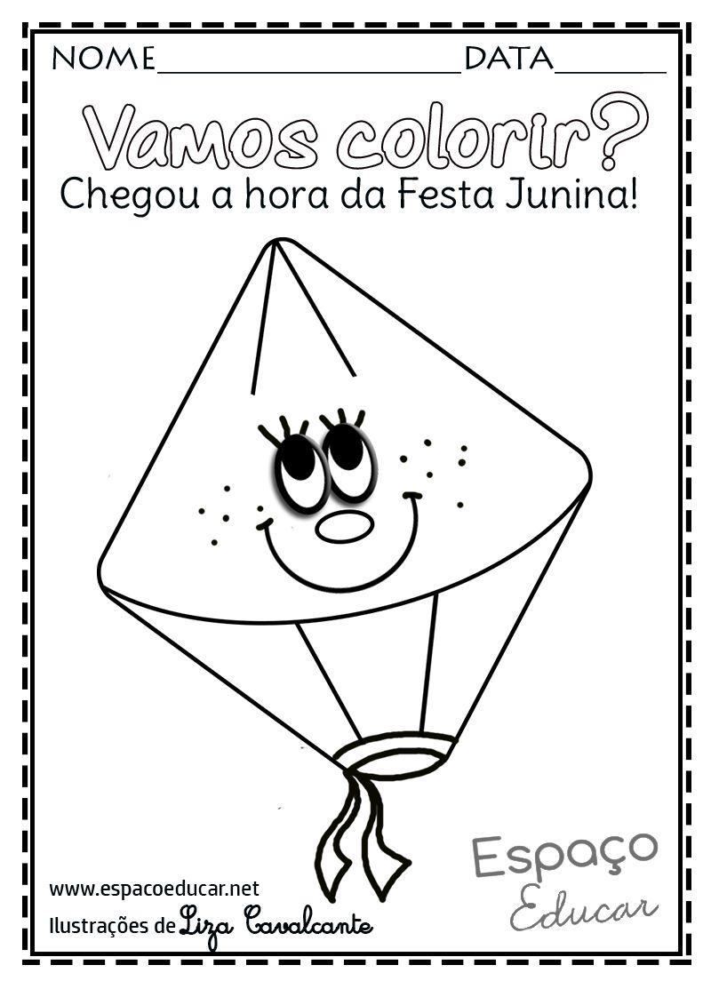 Desenho Festa Junina Colorir Pintar Imprimir Bal C3 A3o Molde