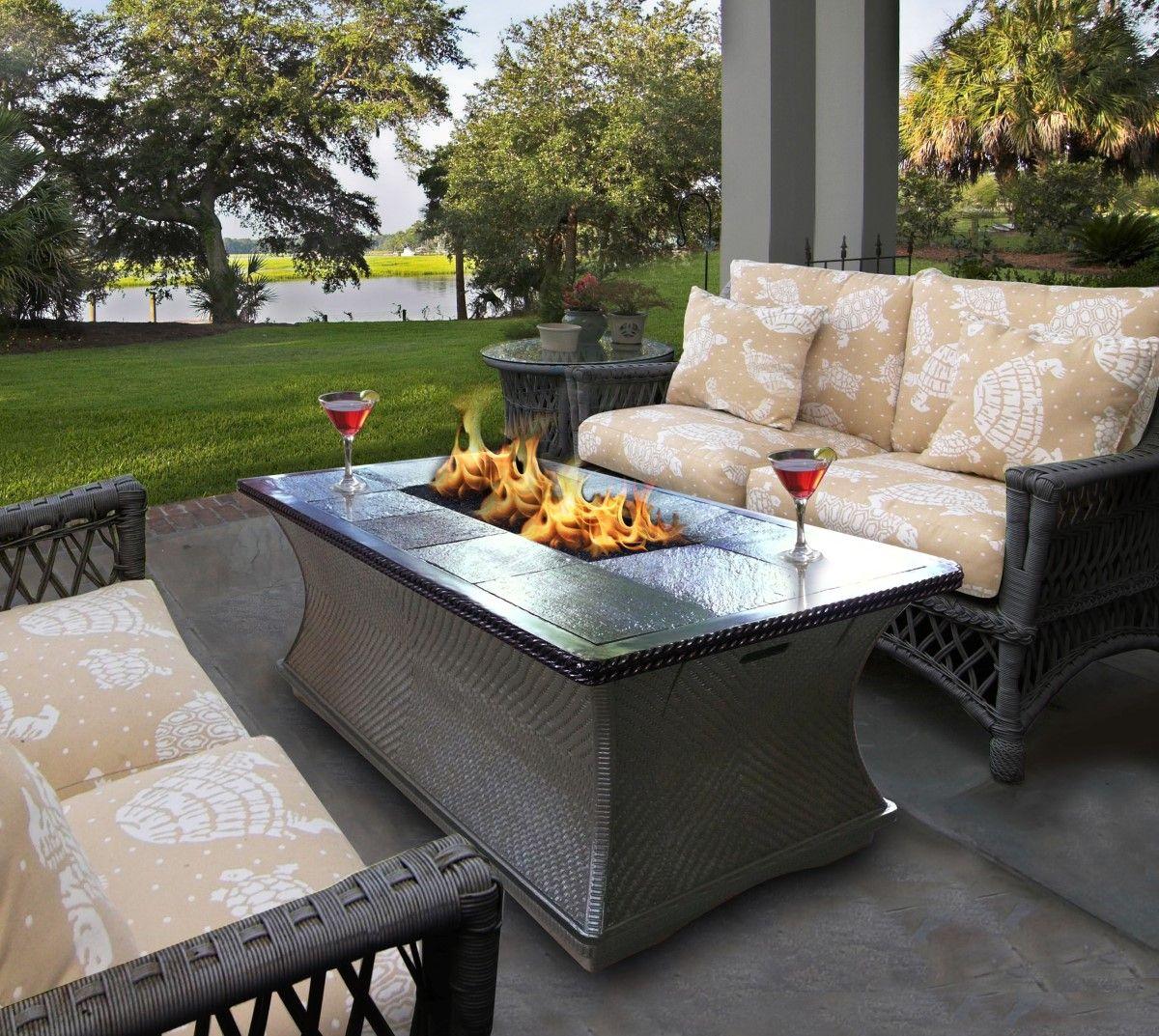 Deck Propane Fire Pit Fire Pit Coffee Table Fire Pit Decor