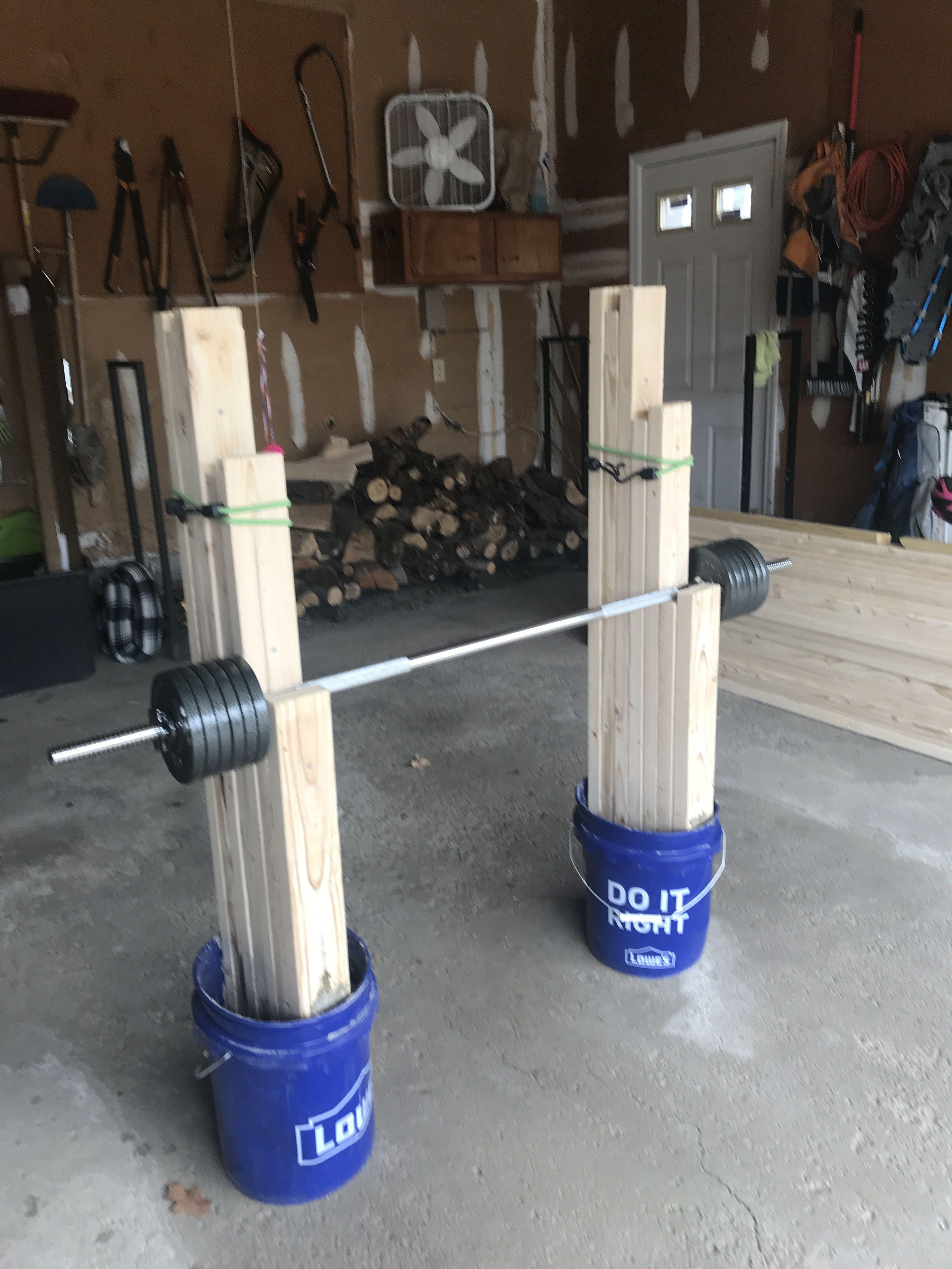 Diy Squat Rack In 2020 Squat Rack Diy Squat Rack Diy Bench