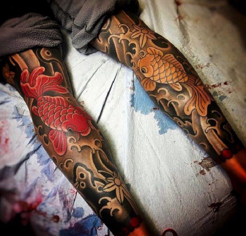 l 39 volution des tatouages traditionnels japonais corps. Black Bedroom Furniture Sets. Home Design Ideas