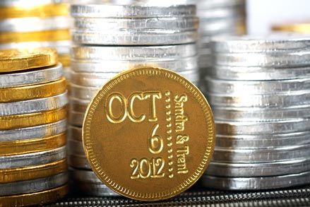 Wedding Guest Gifts Personalized Chocolate Coins