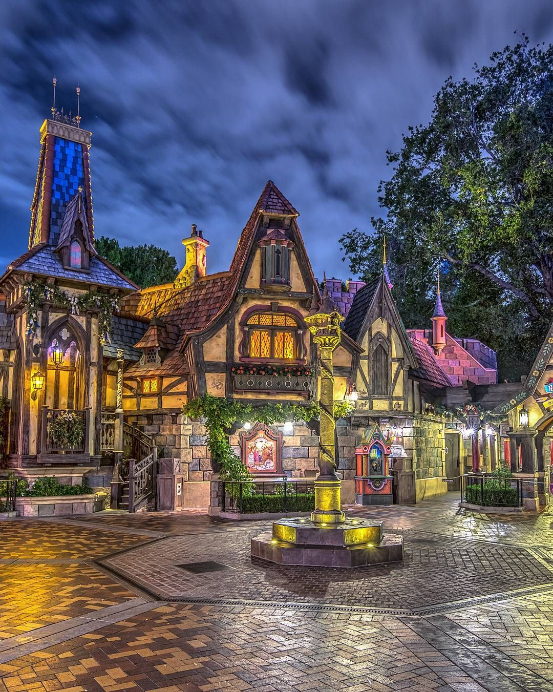 The beautiful fantasy faire. I love the way it looks at night. Such a different look during the day, well, to me anyway. #fantasyfaire #waltdisney #disneyland