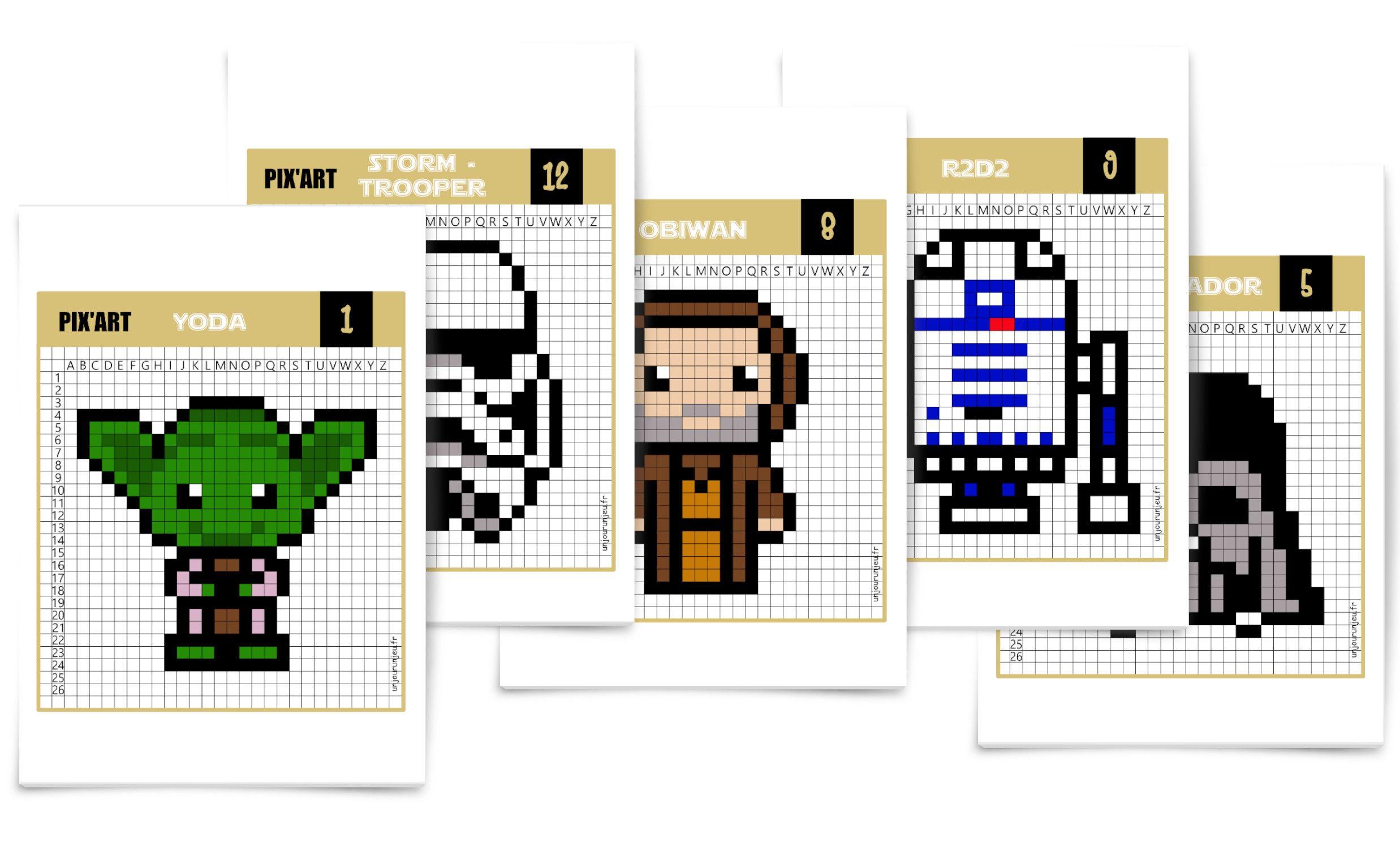 Star Wars Que La Force Soit Avec Toi Pour Ces Pixel Art