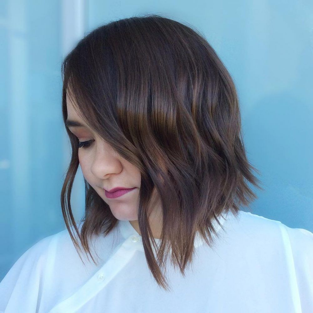 Weuve highlighted short hairstyles for thin hair that will help you