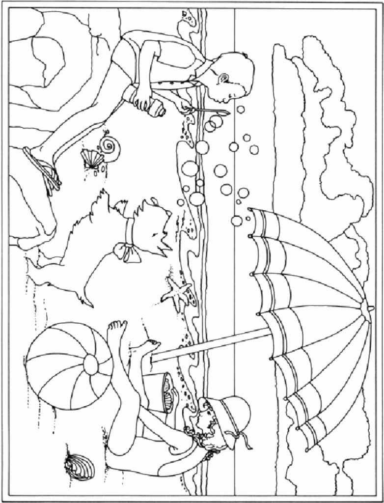 Summer Beach Coloring Page Inspirational Coloring Pages Free Coloring Pages For Summer Summer Coloring Pages Beach Coloring Pages Coloring Pages Inspirational