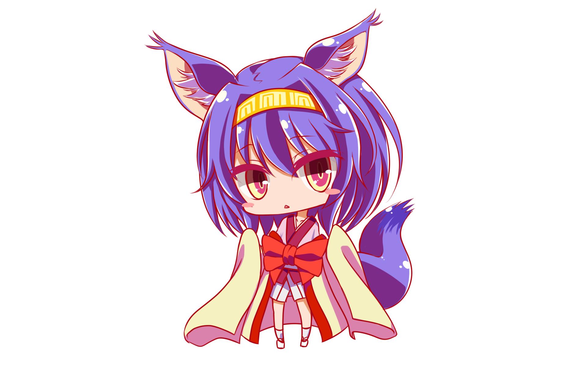 Papel Pintado De Izuna Hatsuse De Anime No Game No Life No Game No Life Character Design Cat Girl