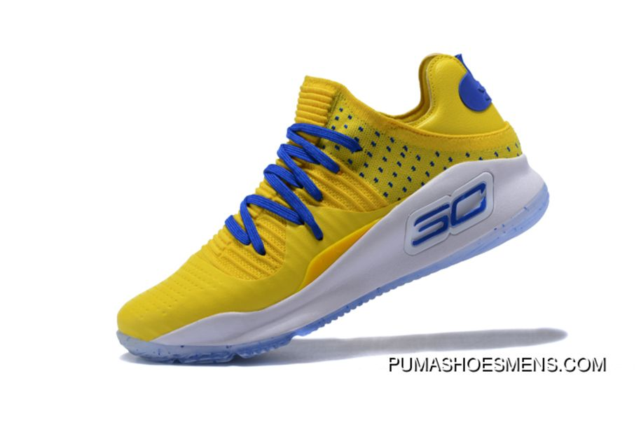 69956046a7fb Under Armour Curry 4 Low Warriors Yellow Royal Blue-White Basketball Shoes  Free Shipping