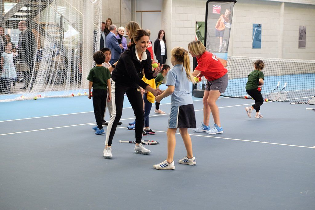 Wimbledon youth tennis session for Duchess Kate Duchess