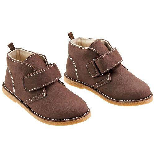 Koala Kids Boys Brown Hard Sole Touch Closure Desert Boots Babies R Us Babies R Us 16 99 Desert Boots Dress Shoes Men Koala Kids
