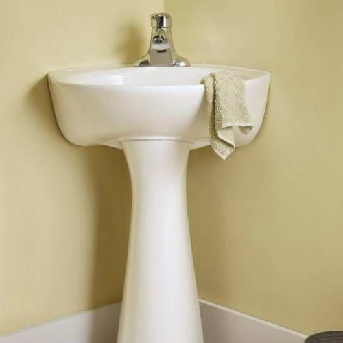 American Standard The Ellisse Pedestal Lav Smashing Ideas For Tiny Bathroom Sinks Check More At Http Www Showerre With Images Pedestal Sink Sink Porcelain Bathroom Sink