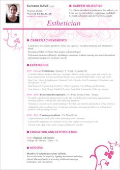 Aesthetician Resume Sample Unforgettable Esthetician Examples To Stand Out Occupationalexamplessamples Free Edit With Word