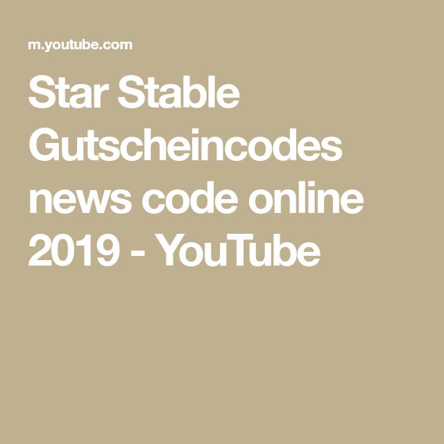 Star Stable Gutscheincodes News Code Online 2019 Youtube In 2020 Star Stable Online Coding Coding