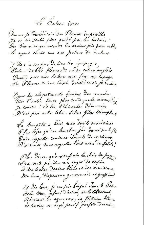 Le bateau ivre arthur rimbaud poeme pinterest - Lecture analytique le dormeur du val arthur rimbaud ...