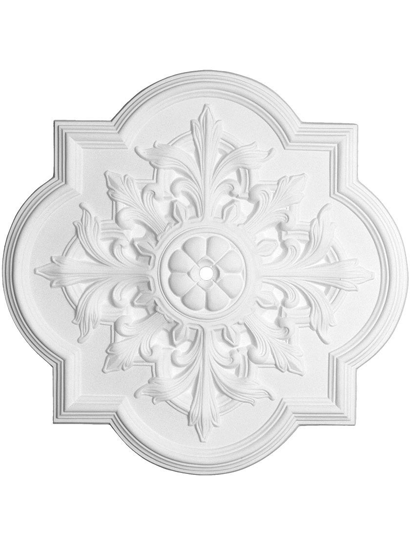 Ceiling Medallion With 1 Center Hole