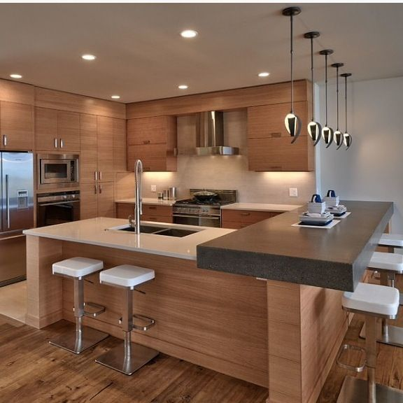 double bar kitchen