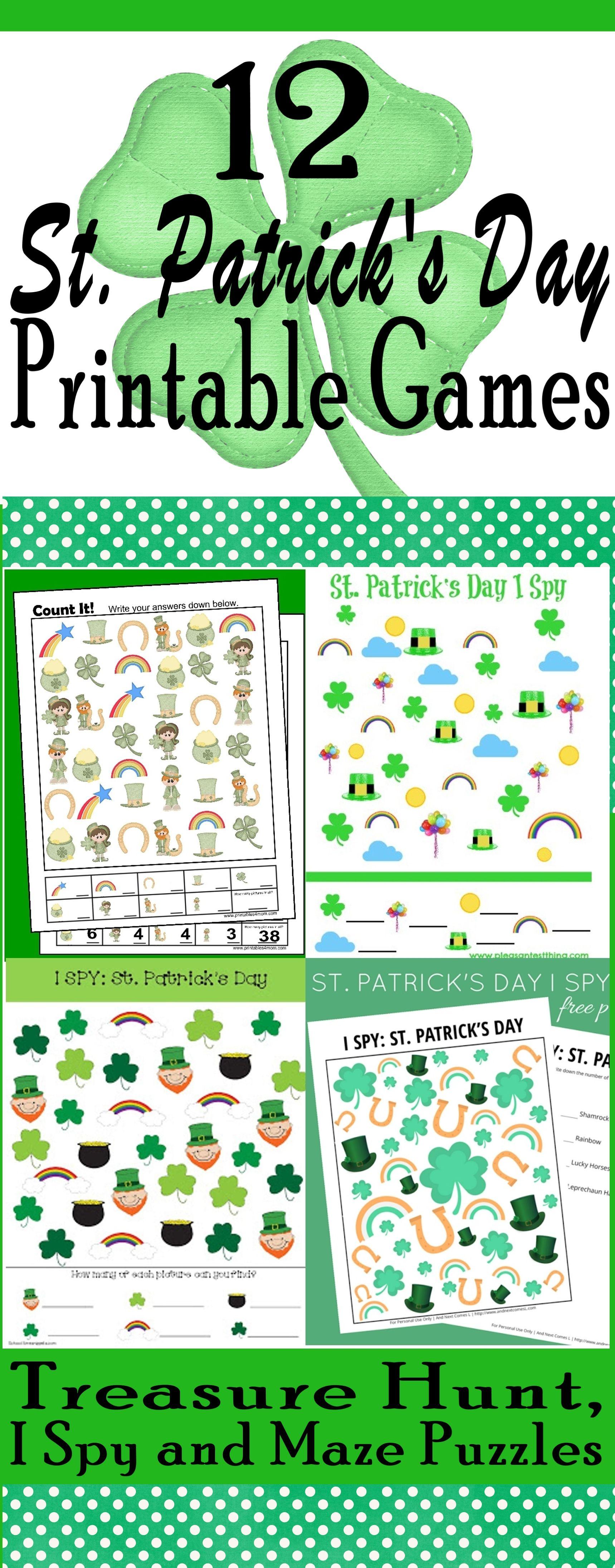 12 St Patrick S Day Game Printables Printables4mom