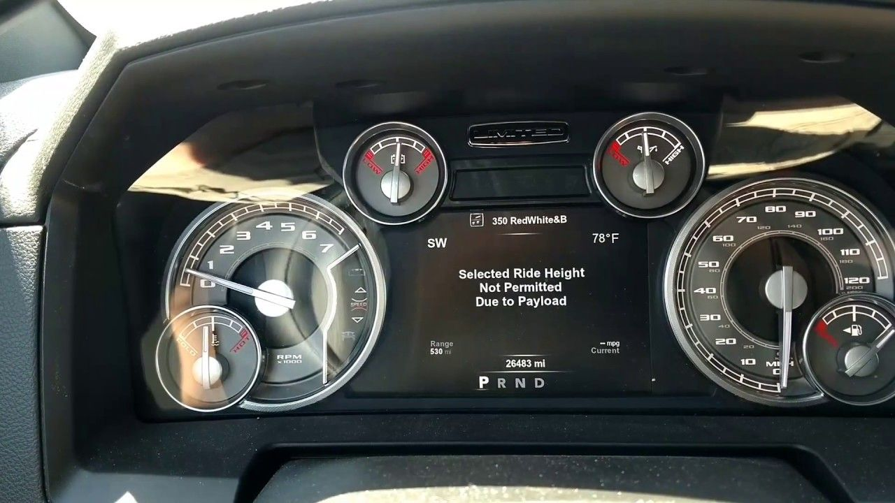 2017 Ram 1500 payload capacity limit! Factory air