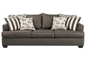 Gibson Furniture   Gallatin, Hendersonville, Nashville TN Levon Charcoal  Sofa