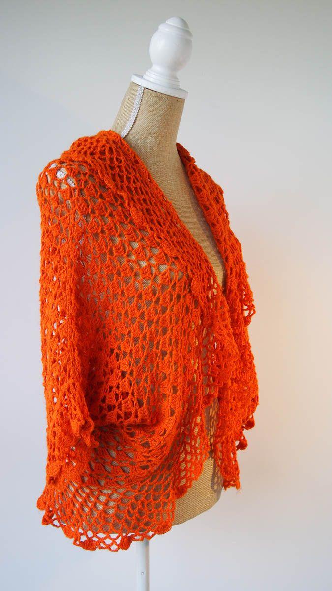 Tangerine Dolman Shrug Summer Coastal Crocheting Pinterest Crochet Tm Diagram Ideas And Tips Juxtapost Jenny King Designs