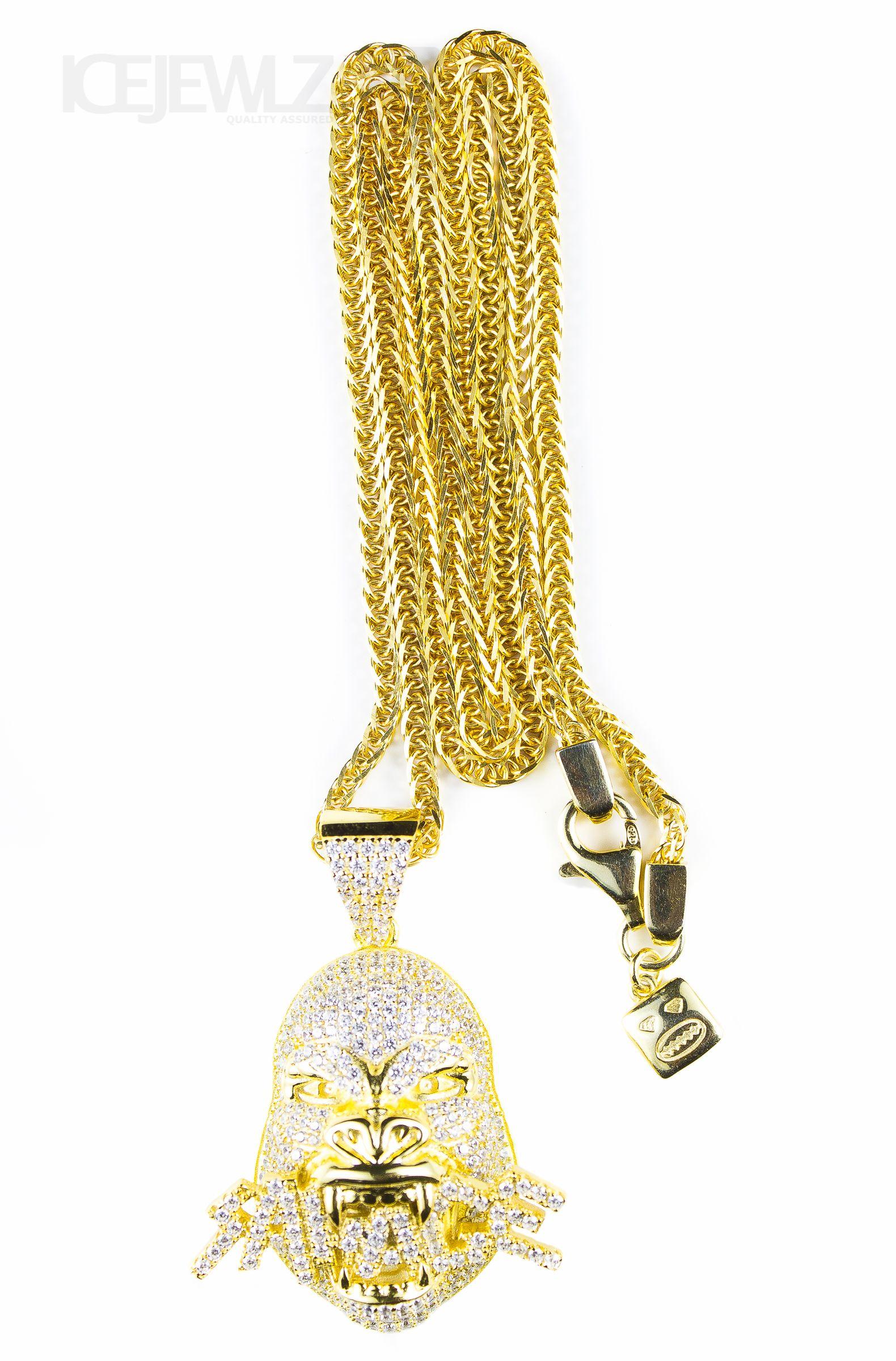 9de4efc963278 Savage gorilla Micro pendant (Gold plate)   Gold plate pendants ...
