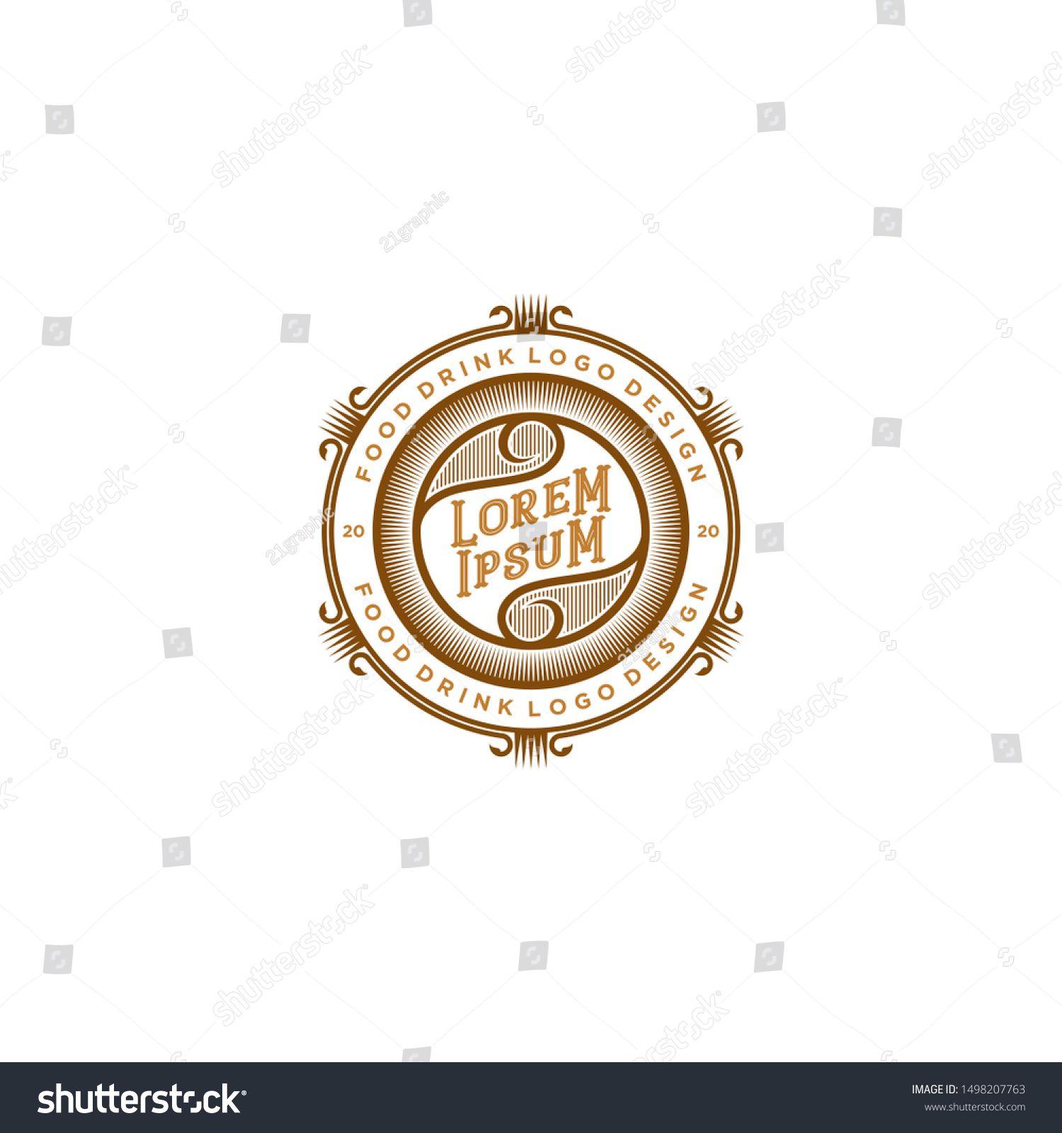 Food drink logo design - vintage style restaurant and cafe bar #Sponsored , #Aff, #logo#design#Food#drink