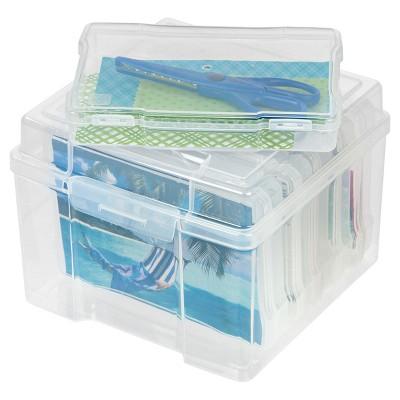 Iris 5 X 7 Photo And Craft Storage Box Clear Craft Storage