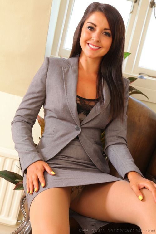 Sexy office upskirt — 11