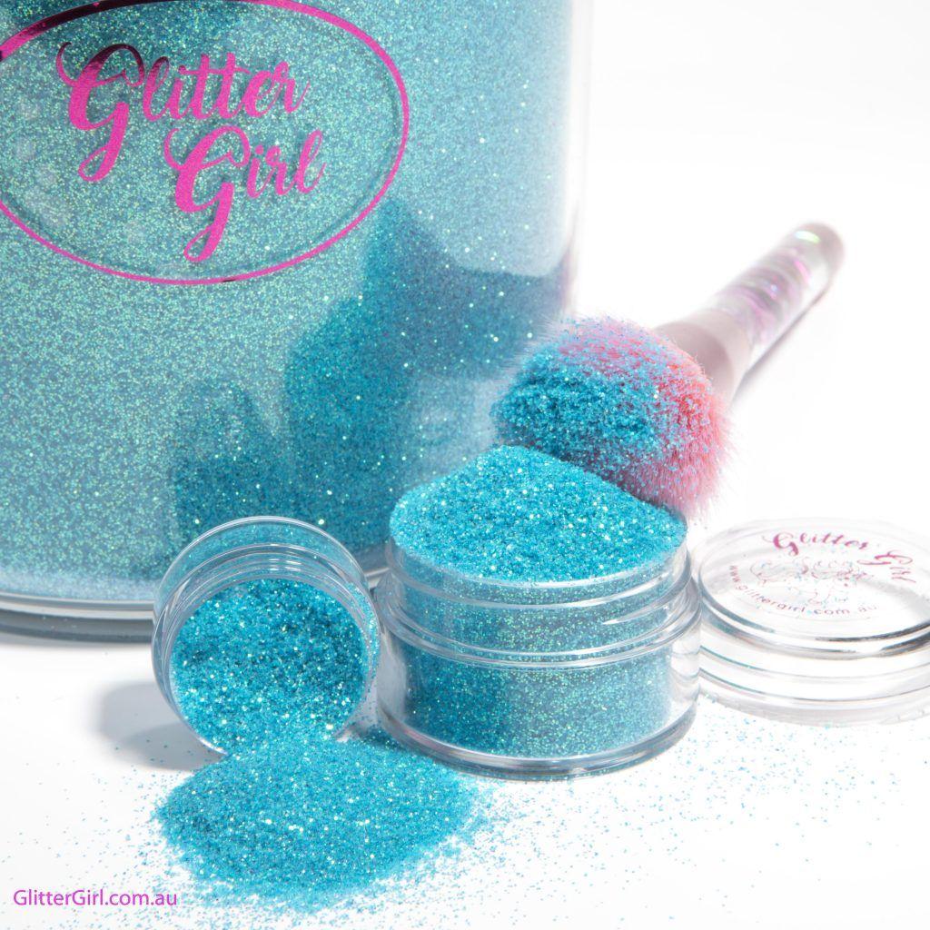 Glitter Girl Unicorn Glitter Rainbow Aqua Tail Glitter