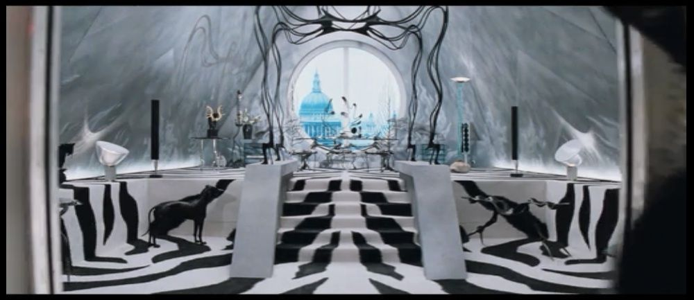 """Cruella's office, """"101 Dalmatians"""" (1996)."""