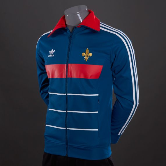 adidas Originals France Track Top - Mens Select Clothing - Tribe Blue-Poppy
