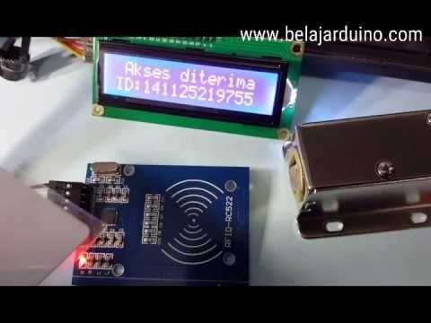Rfid Rc 522 Smart System Selenoid Door Lock With Arduino Belajar Arduino Arduino Rfid Door Lock System